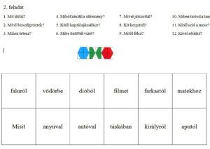 LÜK feladatlap letöltése nyelvtan tanulásához