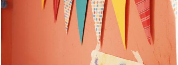 Gyerekszobai dekoráció papírból